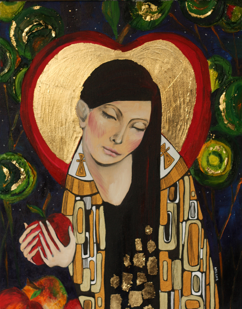 Mother Mary with the Golden Apple
